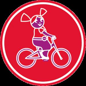 Violette à bicyclette